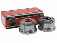 Муфты колесные (хабы) ручные на УАЗ к-т 2 шт., серебряные серия Z redBTR